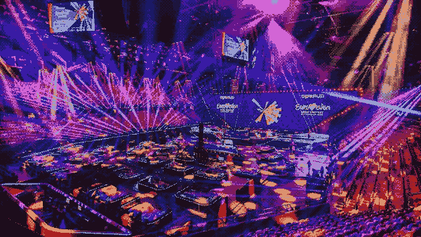The stage of the 2021 Eurovision Song Contest